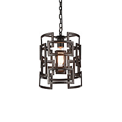 Litani 10 inch 1 Light Mini Pendant with Brown Finish