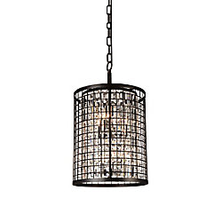 Meghna 17 inch 6 Light Chandelier with Brown Finish