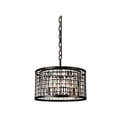Meghna 20 inch 6 Light Chandelier with Brown Finish