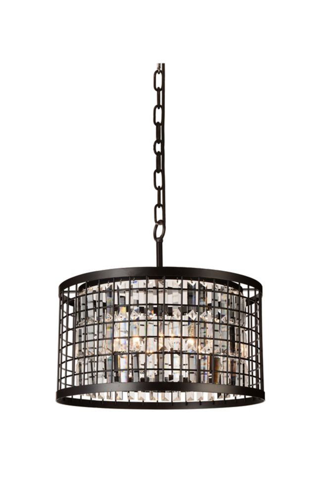CWI Lighting Meghna 20 inch 6 Light Chandelier with Brown Finish