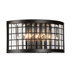 CWI Lighting Meghna 6 inch 3 Light Wall Sconce with Brown Finish