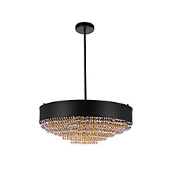 Medina 24 inch 10 Light Chandelier with Black Finish