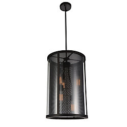 Souris 15 inch 5 Light Chandelier with Reddish Brown Finish