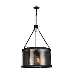 Souris 20 inch 5 Light Chandelier with Reddish Brown Finish