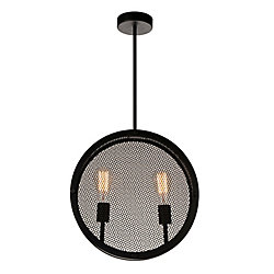Tigris 16 inch 2 Light Chandelier with Black Finish