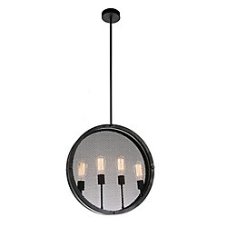 Tigris 20 inch 4 Light Chandelier with Black Finish