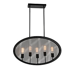 CWI Lighting Tigris 30 inch 5 Light Chandelier with Black Finish