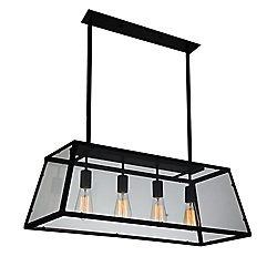 CWI Lighting Alyson 31 inch 4 Light Chandelier with Black Finish