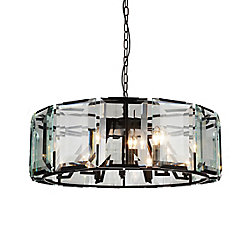 Jacquet 43 inch 18 Light Chandelier with Black Finish and Clear Crystals