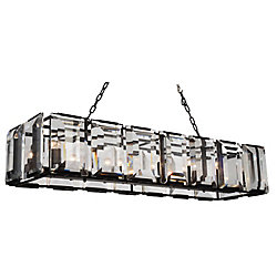 Jacquet 16 inch 14 Light Chandelier with Black Finish and Clear Crystals
