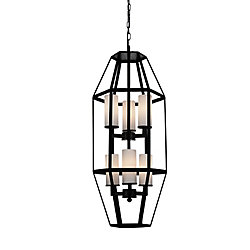 Cell 13 inch 6 Light Mini Pendant with Black Finish