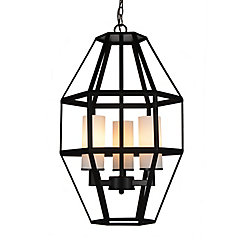 Cell 14 inch 3 Light Mini Pendant with Black Finish
