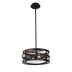 Darya 15 inch 2 Light Chandelier with Brown Finish