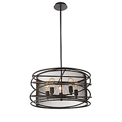 Darya 22-inch 5 Light Chandelier with Brown Finish