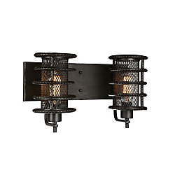 Darya 8 inch 2 Light Wall Sconce with Brown Finish