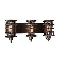 Darya 8 inch 3 Light Wall Sconce with Brown Finish