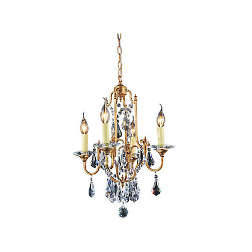 Electra 17 inch 4 Light Chandelier with Oxidized Bronze Finish
