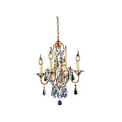 CWI Lighting Electra 17 inch 4 Light Chandelier with Oxidized Bronze Finish