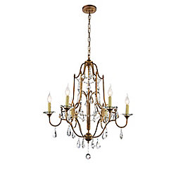 Electra 28 inch 6 Light Chandelier with Oxidized Bronze Finish