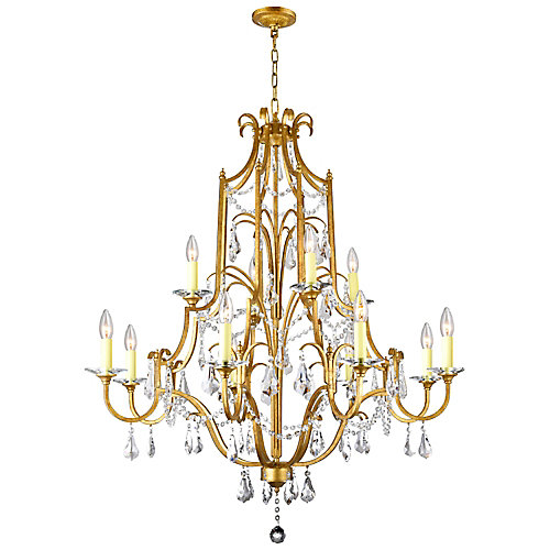 Electra 37 inch 12 Light Chandelier with Oxidized Bronze Finish