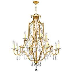 CWI Lighting Electra 37 inch 12 Light Chandelier with Oxidized Bronze Finish