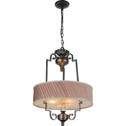 CWI Lighting Rogue 20 inch 4 Light Chandelier with Antique Forged Silver Finish