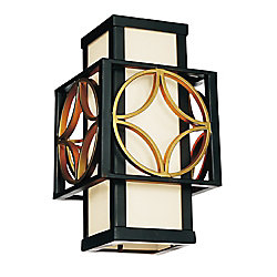 Eva 8 inch 1 Light Wall Sconce with Golden Line Bronze Finish