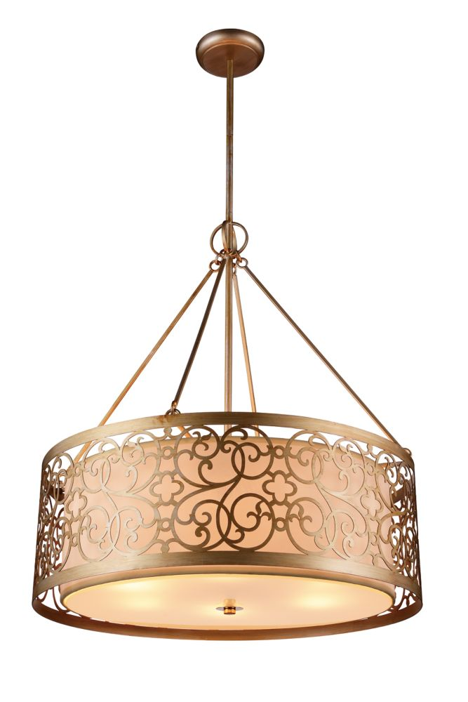CWI Lighting Alexandra 18 inch 4 Light Chandelier with Rubbed Silver Finish