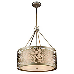 Alexandra 22 inch 5 Light Chandelier with Rubbed Silver Finish