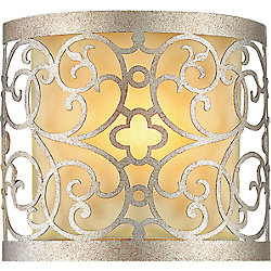 Alexandra 8 inch 1 Light Wall Sconce with Rubbed Silver Finish