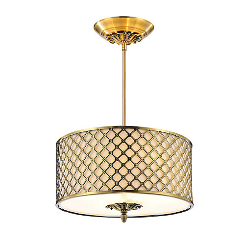 Gloria 16 inch 3 Light Chandelier with French Gold Finish