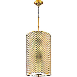 Gloria 18 inch 8 Light Chandelier with French Gold Finish