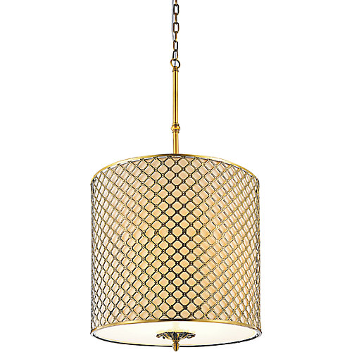 Gloria 18 inch 4 Light Chandelier with French Gold Finish