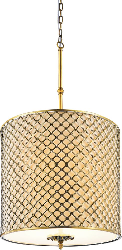 CWI Lighting Gloria 18 inch 4 Light Chandelier with French Gold Finish