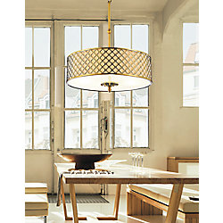 Gloria 20 inch 4 Light Chandelier with French Gold Finish
