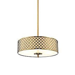 Gloria 24 inch 5 Light Chandelier with French Gold Finish