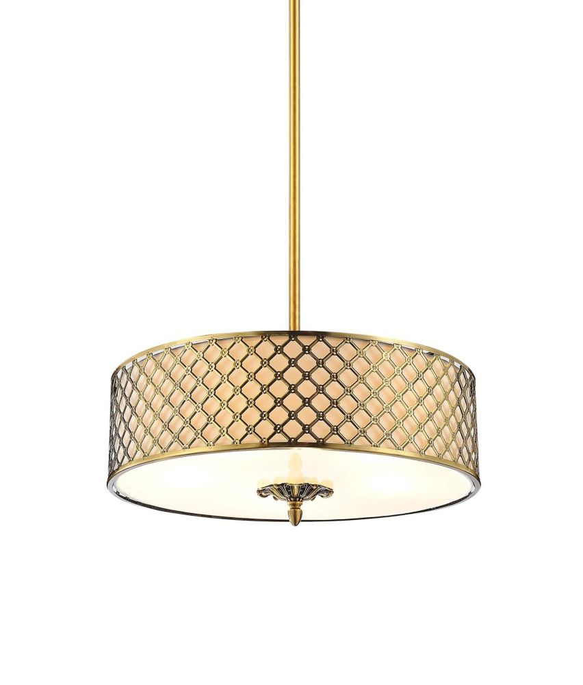 CWI Lighting Gloria 24 inch 5 Light Chandelier with French Gold Finish