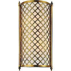 Gloria 9 inch 2 Light Wall Sconce with French Gold Finish