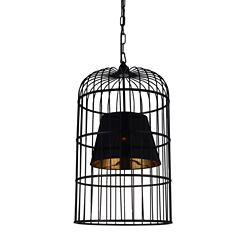 CWI Lighting Silvester 16-inch 1-Light Chandelier with Black Finish