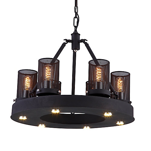 Kenedi 22 inch LED Chandelier with Rust Finish