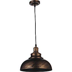 Vogel 15-inch 1-Light Chandelier with Antique Copper Finish