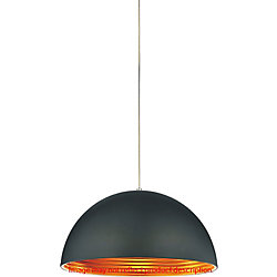 Modest 12 inch 1 Light Mini Pendant with Black Finish