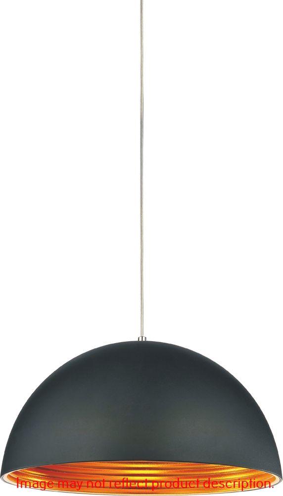 CWI Lighting Modest 12 inch 1 Light Mini Pendant with Black Finish