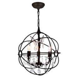 CWI Lighting Campechia 13 inch 3 Light Mini Pendant with Brown Finish