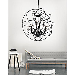 Campechia 42 inch 12 Light Chandelier with Brown Finish