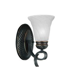CWI Lighting Barley 6 inch 1 Light Wall Sconce with Standard Dark Bronze Finish