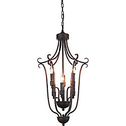 Maddy 16 inch 6 Light Chandelier with Oil Rubbed Brown Finish