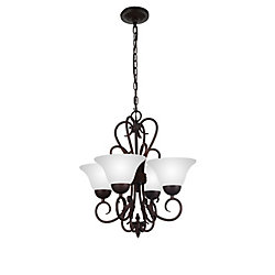 CWI Lighting Maddy 19 inch 4 Light Chandelier with Oil Rubbed Brown Finish
