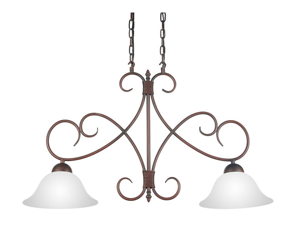 CWI Lighting Maddy 33 inch 2 Light Chandelier with Oil Rubbed Brown Finish