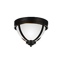 CWI Lighting Irene 14 inch 3 Light Flush Mount with Autumn Bronze Finish